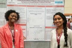 Brianna Thornton and Rhea Patel presenting at Discover USC 2019