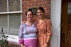 Doctoral students Sara Matherly and Kelly Caravella