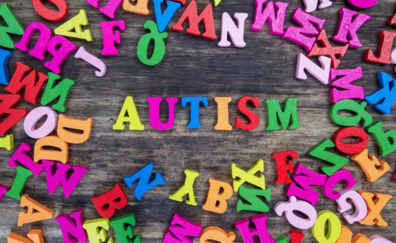 Colorful letters spell out Autism