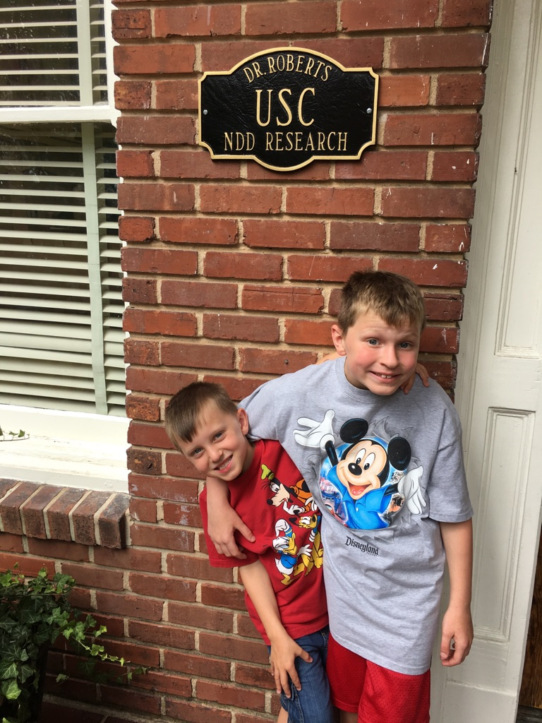Carter and Jackson, sporting their love of Disney!