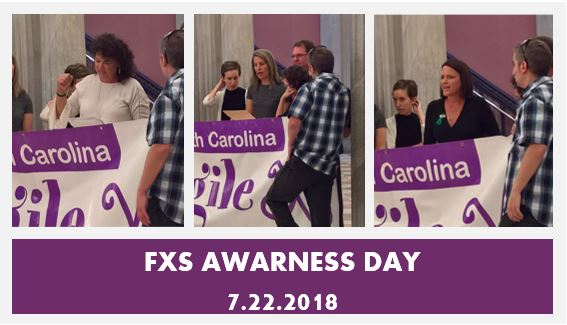 Speakers at the SC State House for Fragile X Awareness Day
