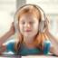 Girl listening with headphones